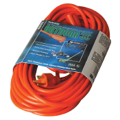 02308 Coleman Cable 50' SJTW-A Orange Extension Cord 16/3